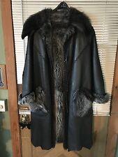 $4,000 CUSTOM MADE OVERLAND SHEEPSKIN SILVER FOX LINED WOMEN'S COAT, LARGE