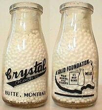 WW 2 pyro WAR SLOGAN half pint Milk Bottle Buy WAR BONDS & Stamps BUTTE MONTANA