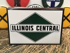 classic ILLINOIS CENTRAL railway RAILROAD full backed refrigerator RR MAGNET