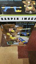 Sharper Image Hungry Bear Target Shooting Game Sound Gun Balls 20 Feet Digital