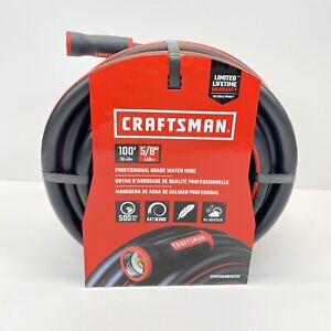Craftsman  5/8 in. Dia. x 100 ft. L Premium Grade  Black / Red  Rubber  Hose