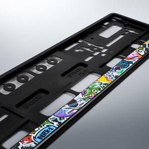 1 Kennzeichenhalter | STICKERBOMB | 520 x 110 | schwarz | Kennzeichen | COMIC