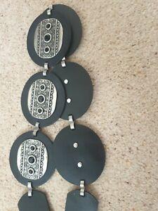 Size Small To Medium Ladies Black Leather & Metal Belt Per Una