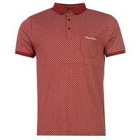 Mens New Pierre Cardin Stylish All Over Pattern Polo Shirt Top Size M- L- XL-XXL
