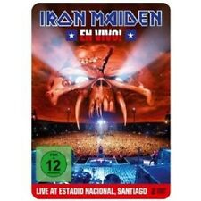 "IRON MAIDEN ""EN VIVO! LIVE IN SANTIAGO DE CHILE (LIMITED STEELBOOK)"" 2 DVD NEU"