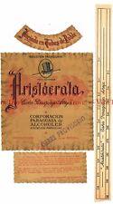 Unused 1940s PARAGUAY Asuncion Aristocrata Cana Paraguaya Aneja Wine Label stamp