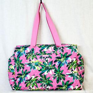 VERA BRADLEY Triple Compartment Large Travel Duffel Bag Tropical Paradise