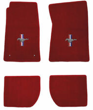 LLOYD FLOOR MATS 4pc RED Heavy Plush™ fits 1965-1973 Ford Mustang Coupe/Fastback