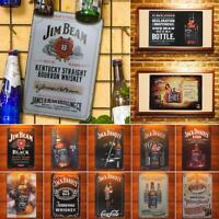 Retro Beer Whiskey Metal Poster Wall Art Painting Plaque Signs Bar Pub Decorate