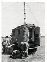 """WW 2 ++  Nachrichtentruppe (3) """"motorisierter Funktrupp beim Betrieb"""""""