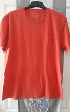 mens next red slim fit crew neck short sleeve tshirt size xxl 2xl