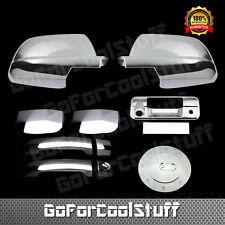 For Toyota 2007-13 Tundra Chrome 2 Door Handle F Mirror Tailgate Gas Cover Cam