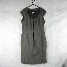 Mango Dress Grey Herringbone Size XL Casual Stylish Fashion Wear