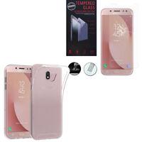 """Etui Housse Coque Gel UltraSlim Samsung Galaxy J7 Pro 5.5"""" + Film Verre Trempe"""