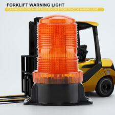 30 LEDs Amber Flashing Rotating Bulb Strobe Forklift Warning Light 10-110V 15W