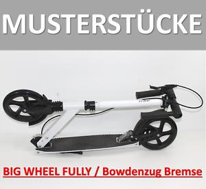FULLY Cityroller 200 Big Wheel Klapproller Scooter gefedert Roller weiß 322 b