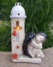 Engel  Grablaterne Grablampe Grableuchte Teelicht Grabschmuck Schutzengel Herz