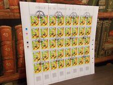 Astérix - Feuille de 40 timbres - Cachet premier jour de la fête du timbre .