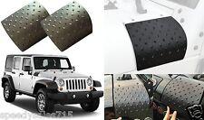 PAIR Diamond Plate Black Cowl Fender Body Armor For 2007-2017 Jeep Wrangler New