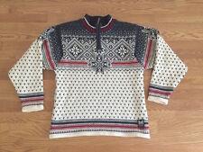 Dale of Norway Sweater Mens Wool Snowflake Sport Nordic 1/4 Zip Ski Team Small