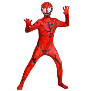 Carnage Cosplay Jumpsuit Adult Kids Bodysuit Halloween Costumes Gifts UK