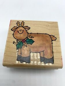 Penny Black Rubber Stamp 1997 Rooly Reindeer