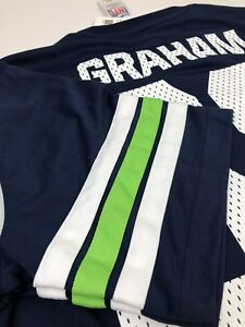 Seattle Seahawks Jimmy Graham #88 NFL Football Athletic T-Shirt Mens Sz L NWT