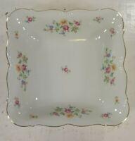 Vintage Edelstein Bavaria Queen's Rose Square Serving Bowl