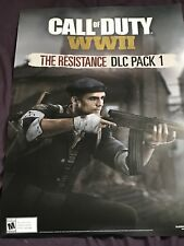Call Of Duty WW2 The Resistance DLC Double Sided Posters GameStop Zombies