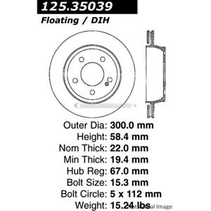 For Mercedes CL500 S430 S500 Centric Rear Brake Rotor Disc DAC
