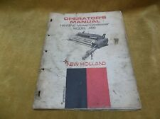 Vintage Operators Manual For Model 469 New Holland Haybine Conditioner