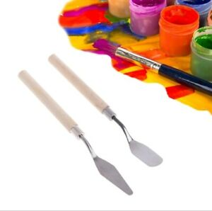 2pcs Oil Mixing Palette Pigment Artist Student Paint Tool Watercolor Spatula