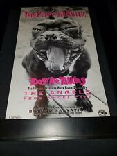 The. Angels Dogs Are Talking Rare Original Radio Promo Poster Ad Framed!