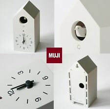 MUJI Mechanical cuckoo Wall  Clock White w/light sensor from Japan