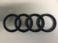 "Original Audi Emblem ""Ringe"" schwarz glänzend für den Kühlergrill A1 A3 A4 A5"
