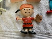 Vtg Rubber Bendable Figure Lot Charlie Brown Bozo Tom and Jerry Alfred E Newman