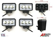 4 PCS Rectangle 3 LED WORK LIGHTS FLOOD LAMPS 12V 24V Boat ATV Bike SHIP Yaht