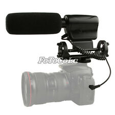 Pro DV stereo microphone mic f Canon Nikon DSLR D3100 D7000 600D w/ shock mount