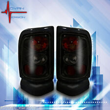 1994-2001 Dodge RAM 1500 2500 3500 Tail Lights Black Smoke Lens Rear Lamps PAIR