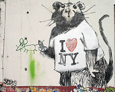 Banksy Graffiti I Love NY Rat 16x20 double thick matte paper print