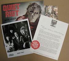 QUIET RIOT Metal Health 1983 US AUTOGRAPHED LP DuBrow Cavazo Sarzo Banali MINTY!