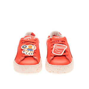 PUMA x TINY COTTONS SPECKLEPS Kids Leather Sneakers EU28.5 UK10.5 US11.5 Patches
