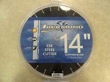 "BRAND NEW Lackmond LSE Steel Cutter 14"" Wet/Dry Diamond Blade 1"" Arbor"
