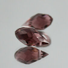 New10pcs 6x12MM purple Oval Faceted Czech Crystal With Hole Teardrop Glass Beads