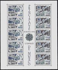 MONACO 1991 BLOC 52 EUROPA espace EUTELSAT INMARSAT  cote 29€ ★★ sans charnière