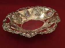 Quality Edwardian Solid Silver Large Fruit Dish or Bowl Birmingham 1901
