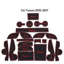20pcs Interior Door Mat Cup Pads Holder Gate Slot Pad for Hyundai Tucson 16-2018