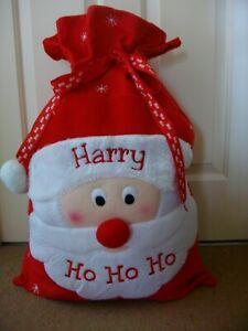 CHRISTMAS SACK - HO HO HO FATHER CHRISTMAS SACK PERSONALISE LARGE CHRISTMAS SACK