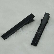 55mm Black Metal Alligator Hair Clip Pin DIY Wedding 50 pcs