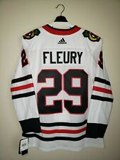 Chicago Blackhawks Marc Andre Fleury Stitched Away Adidas Jersey Size 46 Nwt
